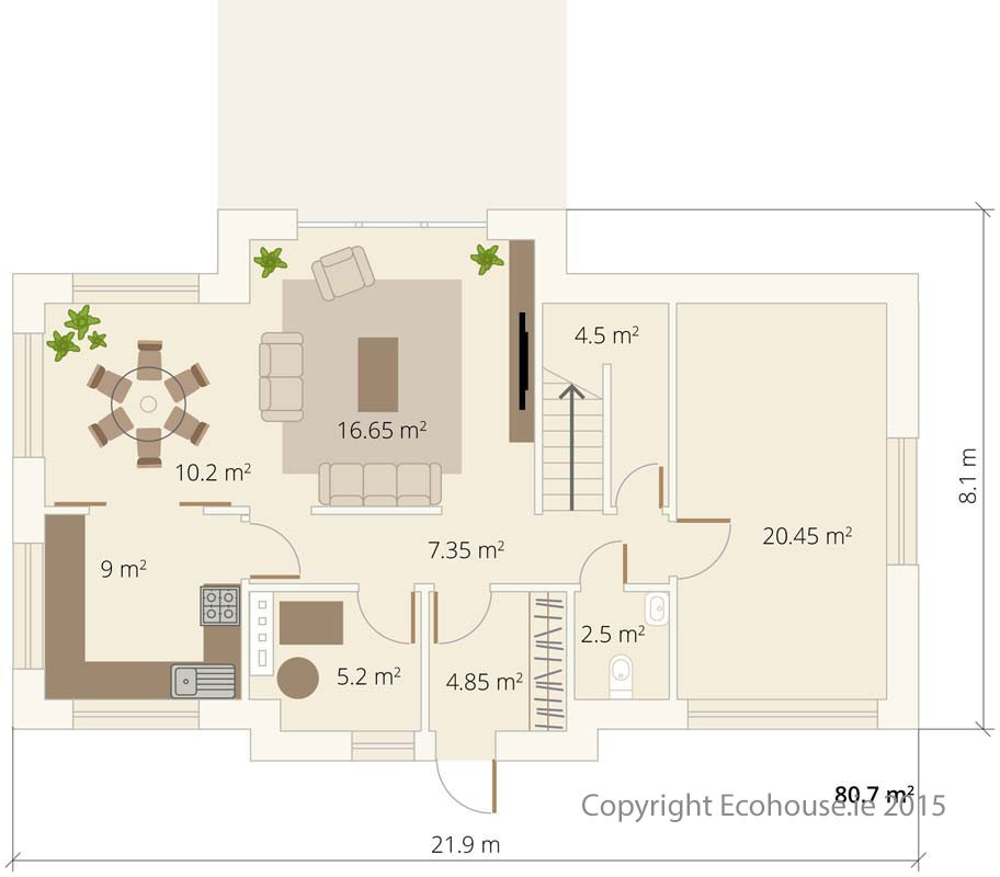 Dormer Ecohouse Ground Floor